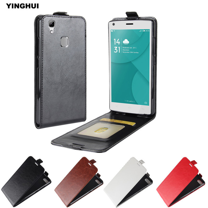 YINGHUI For Doogee X5 Max Vertical PU Leather Flip Magnet Protective Skin Bag Mobile Phone Back Cover Coques Crazy Horse Case 5