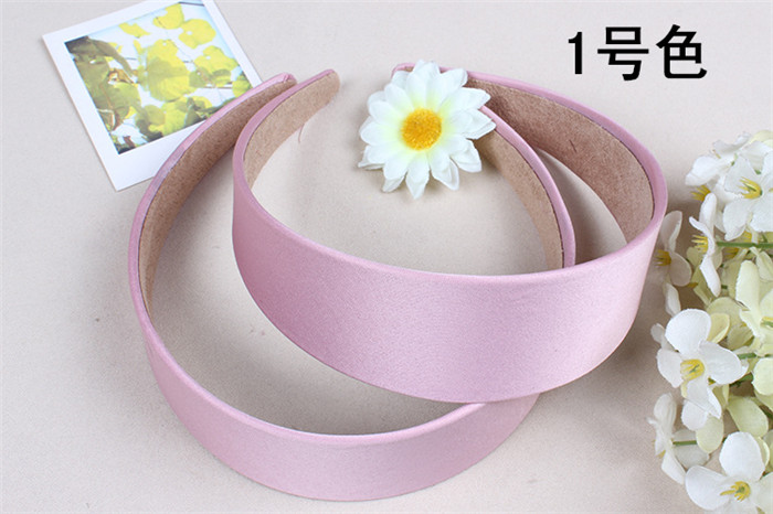 Lady geniş Saten kaplı Kafa hoop Saç Bandı Alice Band Hairband yay 4 cm