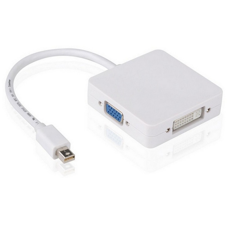 1 ADET mini displayport DP HDMI DVI VGA Adaptörü 3 in1 Thunderbolt Mini Display port Kablo