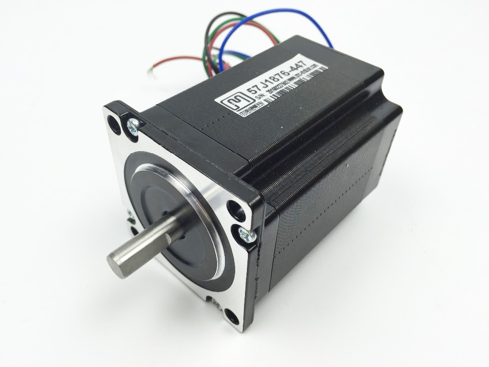 Nema 23 2 phase 2N. m 283ozf. in step Motor 57mm çerçeve 8mm mil 57J1876-447 JMC